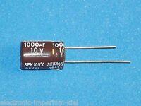 Elko, radial, 1000µF (1000uF) / 10V / 105°C, 10 Stk. (Ø10x15mm)