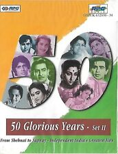 50 GLORIOUS YEARS - SET 2 - BRAND NEW BOLLYWOOD 5 CASSETTES BOX PACK