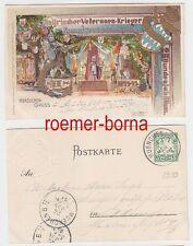 78124 Ganzsachen Ak 25.Bundesjubiläum Veteranenkrieger Bund München 1899