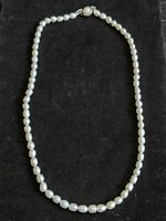 Vintage Silver Tone Baroque White Pearl Necklace