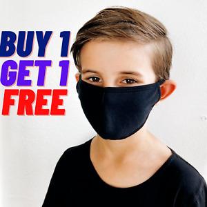 2X KIDS CHILDREN Face Mask Breathable Cotton Washable Reusable Buy1 Get1Free