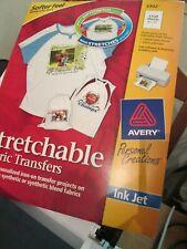 Avery Fabric Transfers 3302 Transfers NIP 5 sheets 1 Pack