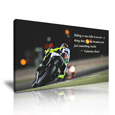 Ducati Moto Gp Valentino Rossi cita tela pared arte Foto impresión 60x30cm