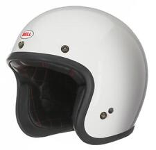 BELL CUSTOM 500 -  SOLID VINTAGE WHITE HELMET - FAST DELIVERY