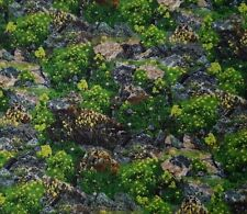 """1 yd 13"""" Our National Parks Ivy Lane Quilting Treasures Rocks & Flowers"""