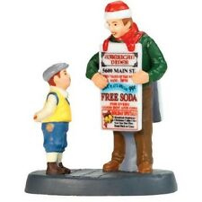 Free Soda For You?, Department 56 Christmas In The City Series, 799986 Mib Rare!