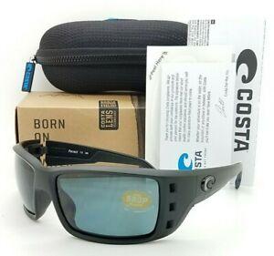 NEW Costa Permit Sunglasses Blackout Grey 580P Plastic AUTHENTIC PT 01 OGP black