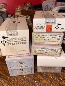 6 Boxes Orton Standard Pyrometric Kiln Ceramics Large Small 6 4 019 014 5