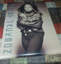 Rare Vintage 1990 ~ Janet Jackson Rhythm Nation ~Collectible Poster~ Huge 35x23""