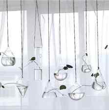 New Hanging Glass Flower Planter Vase Terrarium Container Home Garden Decor