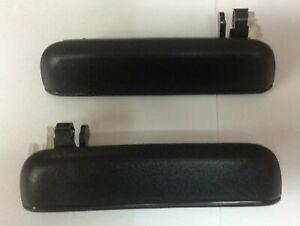Exterior Door Handle For 95-99 Toyota Tercel 96-98 Paseo Set of 2 Front Black