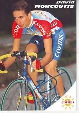 CYCLISME carte cycliste DAVID MONCOUTIE équipe COFIDIS 1998 signée