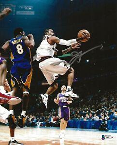 Allen Iverson signed Philadelphia 76ers 8x10 photo autographed Beckett