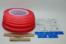 More details for doppelseitiges rot klebeband, schaber, alkoholtupfer bündel für handy, tablet
