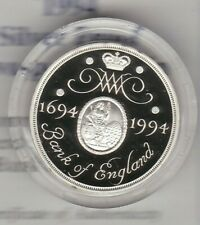 More details for boxed 1994 royal mint standard silver proof £2 bank of england with certificate