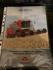 Massey Ferguson 7200 combine sales brochure