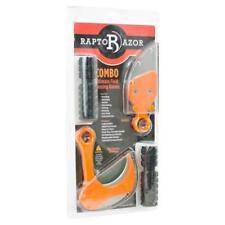 Raptorazor Orange Injection Molded Ultimate Field Dressing Knives Combo Set