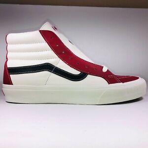 VANS SK8 Hi Leather Chili Pepper & White Skatboarding Shoes Size 9.5 VN0A4BVHXHT