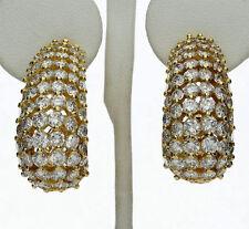 Diamante J Pendiente De Aro 18ct Oro Amarillo E VS Brillante Redondo
