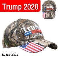 Donald Trump 2020 MAGA Camo Embroidered Hat Keep Make America Great Again Cap ED