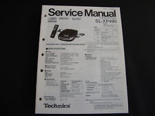 ORIGINALI service manual TECHNICS sl-xp490