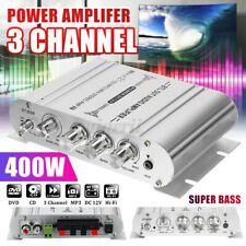 400W Hifi Verstärker Stereo 2.1/3 Kanal Endstufe Auto Amplifier Bass MP3 DVD C