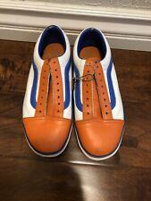 Vans Shoes Fashion Sneakers Orange / White Leather Shoes Sz 7 US