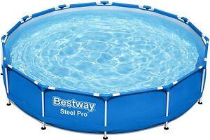 Bestway Steel Pro Frame Pool rund 366 x76cm Stahlrahmenpool 56706