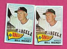 2 X 1965 TOPPS # 66 ANGELS BILL RIGNEY MANAGER  CARD  (INV# C4190)