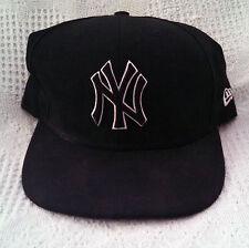 NY YANKEE BALL CAP - BLACK W/BLACK & WHITE LOGO. SIZE 8R OFFICIAL MLB MERCH