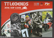 2016 ISLE OF MAN TT LEGENDS 50p COIN GIFT PACK *FREE P&P - DUNLOP ANSTEY HISLOP