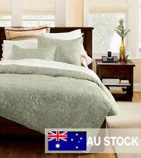 Bedspread set-Vintage Floral Patchwork Quilt-5PC set-Cotton-Hand Made-Queen_DH