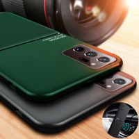 Magnetic Metal Leather Case Cover For Samsung Galaxy Note 20 Ultra S20 A21S A71