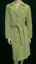 Willi Smith Green  Long Leather Genuine Suede  Coat Size M