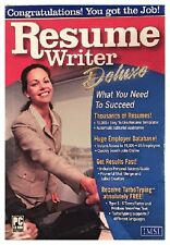 Resume Writer Deluxe Pc New Boxed XP