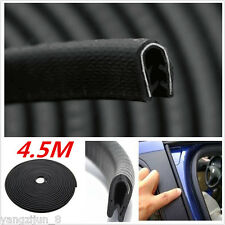 Waterproof Car SUV Door Edge Seal Strip Black Rubber Sealing Moulding Trim 4.5m