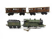 Bing Prewar O Apollo LNER 0-4-0 Steam Locomotive Clockwork Tin Windup Set RARE