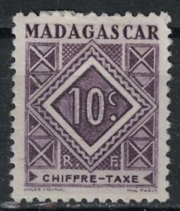 MALAGASY:1947 SC#J31 MNG POSTAGE DUE STAMP R178