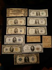 12 Different Currency Collection Printed In Us Colonial To The 80's #12