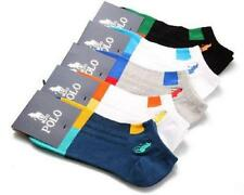 5 Pairs Lot Men's HJC polo sport style Casual Cotton Socks NO SHOW ANKLE LOW CUT