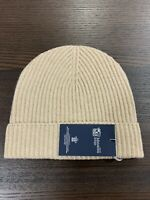 100% Cashmere Beanie Hat | Johnstons of Elgin | Made in Scotland | Cream | Soft