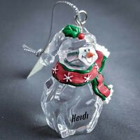 KEVIN Personalized Skating Snowman Ornament GANZ