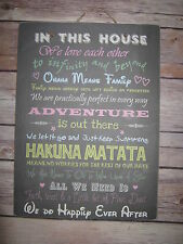 Hand Painted Inspirational Decorative Indoor Signs/Plaques