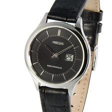 Elegante MARQUIS Damen Funkuhr (deutsches Funkwerk)  Armbanduhr Leder 964.4915