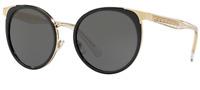 Versace Damen Sonnenbrille VE2185 1252/87 54mm schwarz rund gold S DU1 H