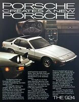 "1977 Porsche 924 Coupe photo ""Careful Engineering"" vintage print ad"
