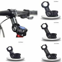 US 25.4/31.8mm MTB Bicycle Handlebar Mountain Road Bike Adjustable Stem Riser