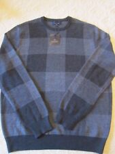NWT $145 Toscano The Giglio Wool Blend Crew Neck Sweater Sz L
