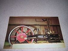 1906 ROLLINS STEAM ENGINE at MUSEUM of SCIENCE BOSTON MA. VTG POSTCARD