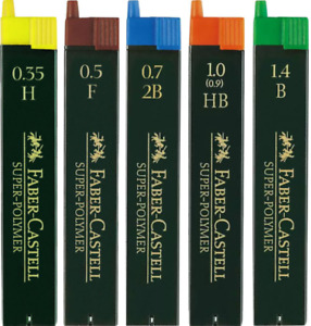 Faber-Castell Super-Polymer Mechanical Pencil Leads - All Sizes&Grades Available